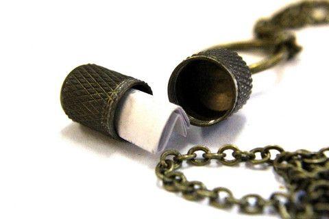 gwendelicious.com secret Brass Love Note Necklace