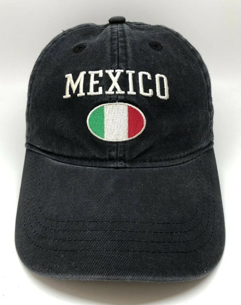 Mexico Soccer Adidas Cap Hat Adult Adjustable Black 100% Cotton ... 685ffa6203f
