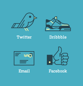 Social Media Icons from Rype Arts