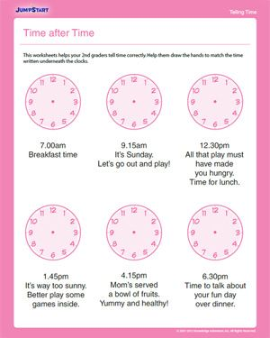 Time after Time - Free Time Worksheet for 2nd Graders | *♣* Smart ...