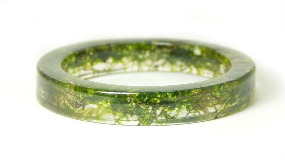 jewelry made of real moss