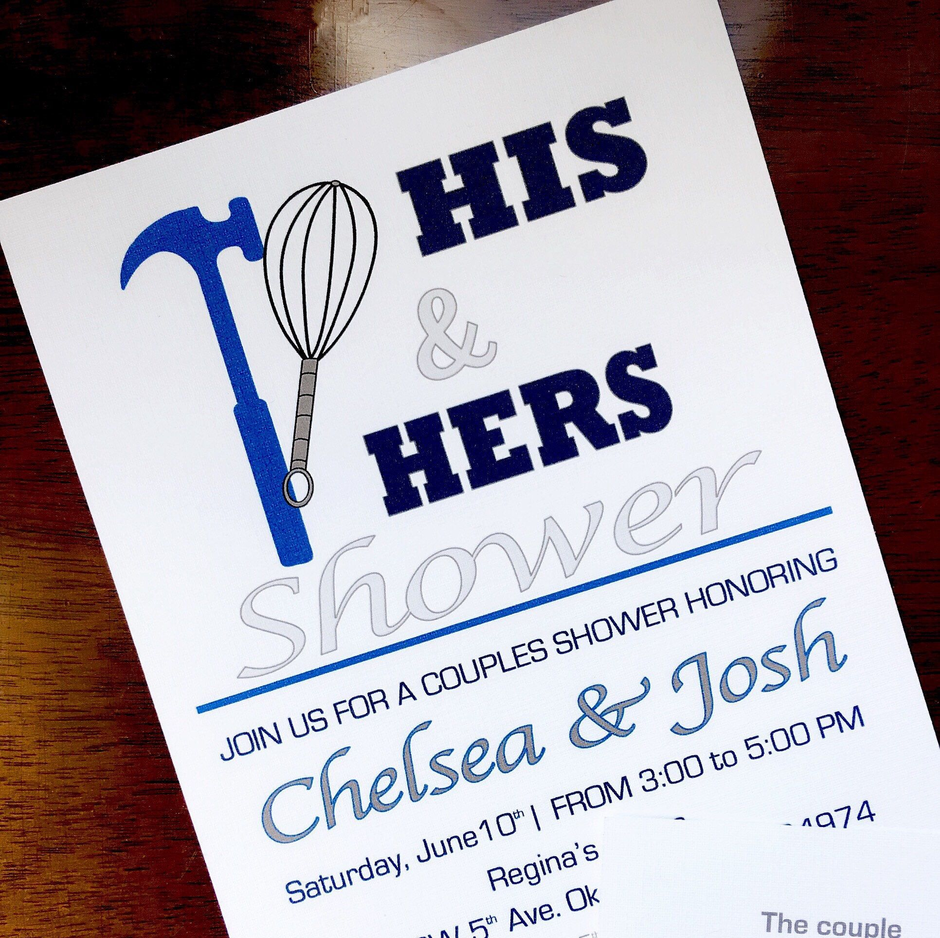 His and hers couples bridal shower by beforetherings on