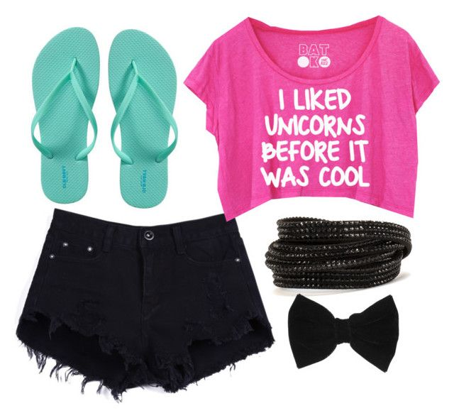 """""""I miss summer!!! :("""" by gabby0604 ❤ liked on Polyvore featuring Old Navy, Pieces and claire's"""