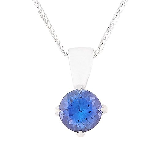 18 carat white gold and tanzanite pendant solid bale tanzanite 18 carat white gold and tanzanite pendant solid bale aloadofball Gallery