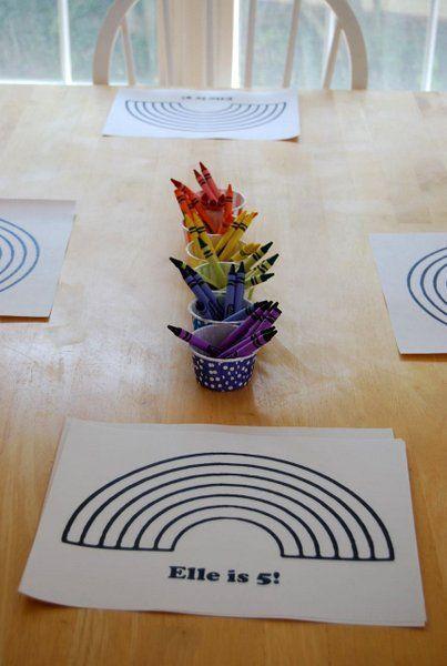 rainbow spa birthday party ideas for girls: happy 5th ...