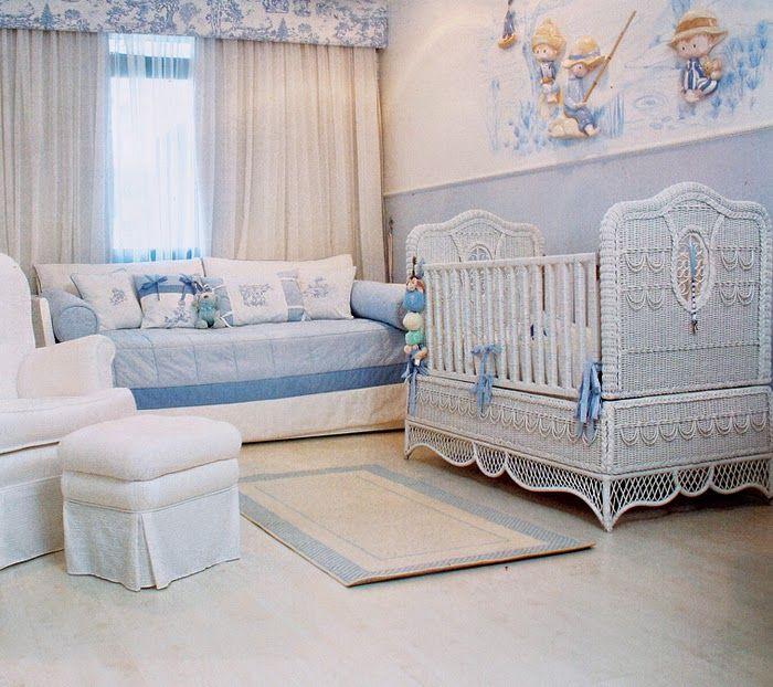 Cuarto de bebé blanco y celeste Dream Pinterest Cuarto de bebé