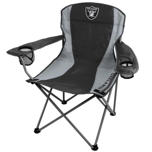 Charming Oakland Raiders Folding Chairs XL Big Boy Chairs 300 Lbs   Coleman