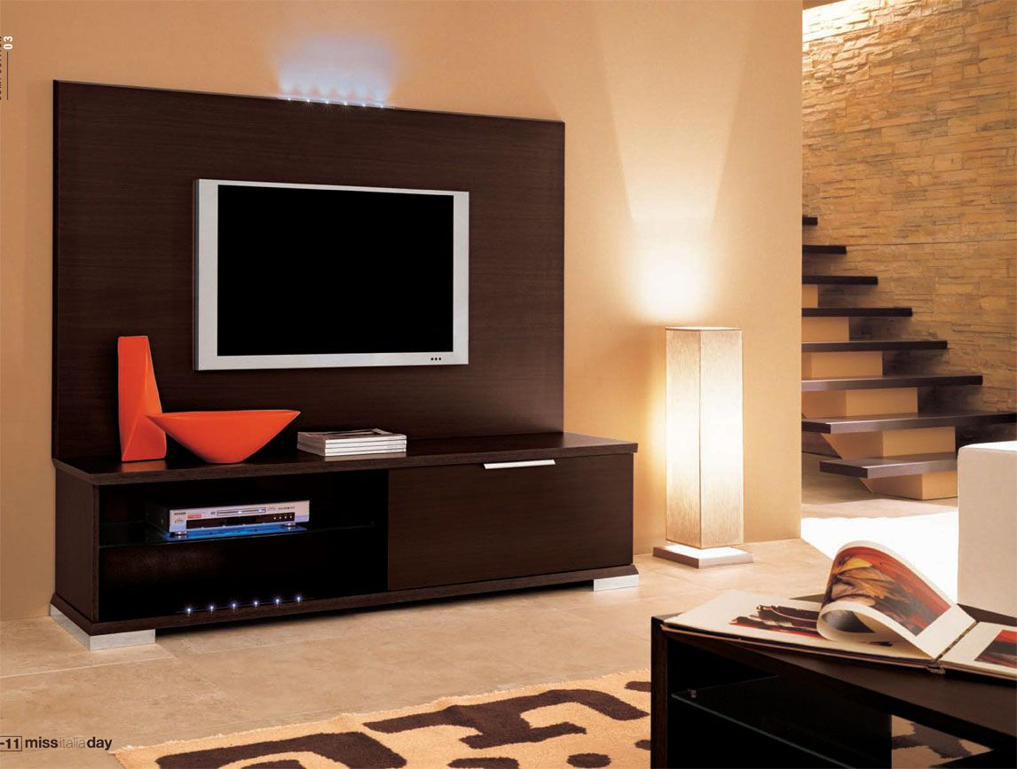images of wall mounted tv with built in cabinets LCD TV above