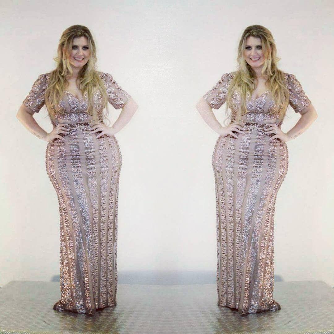 vestidos de gala plus size modernos  f61d219a5f56