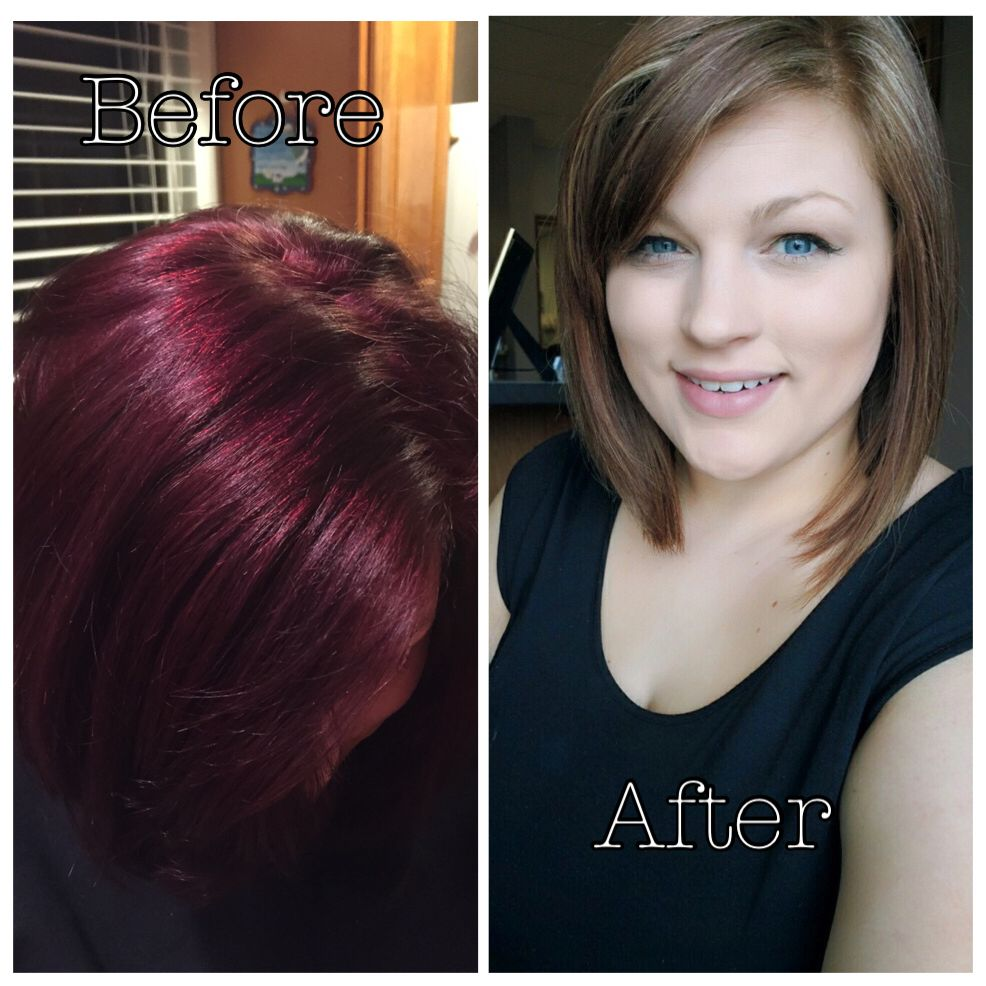 Removed Violet Red Matrix Color With Pravana Color Remover Then