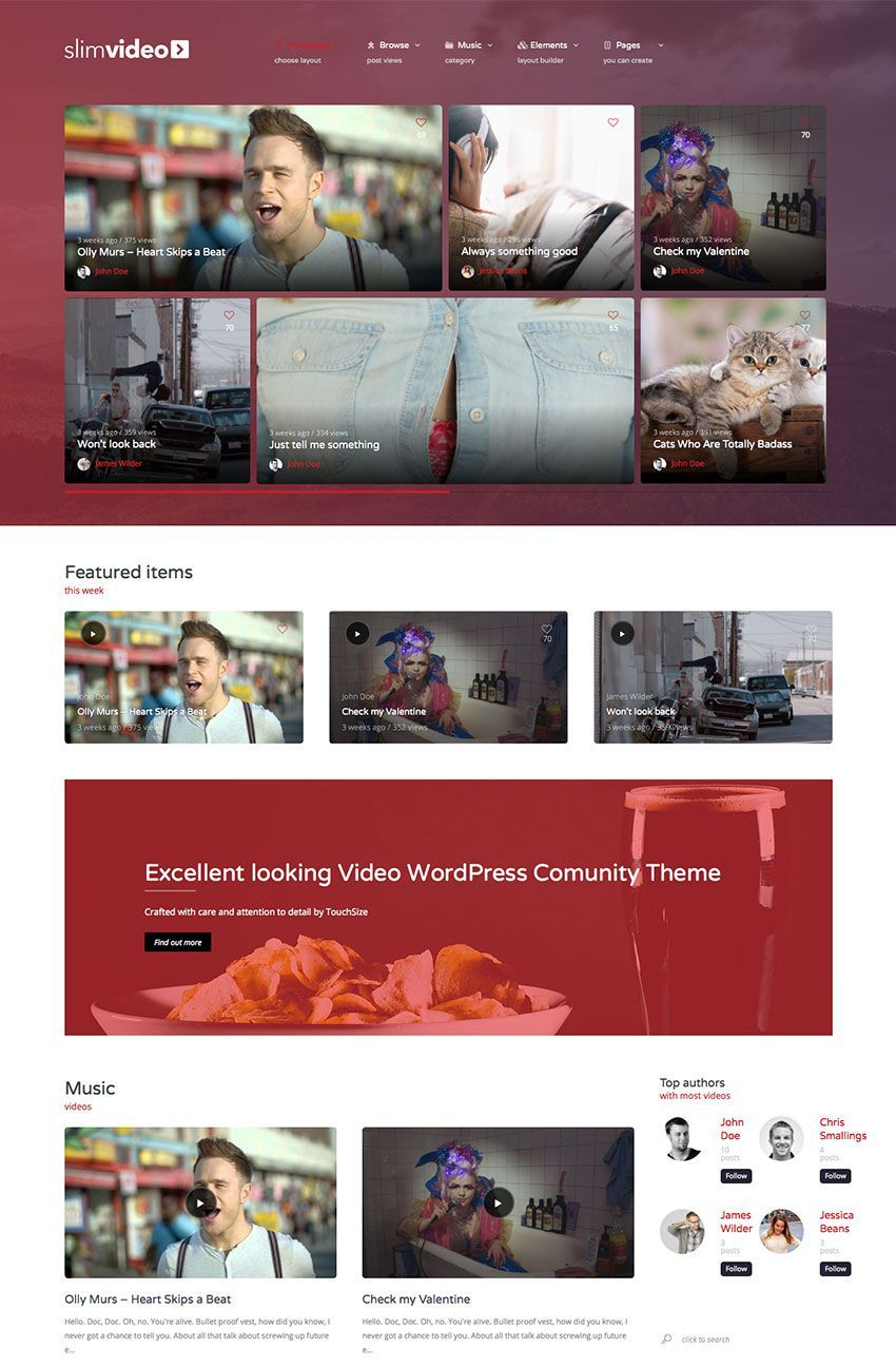 20 Best WordPress Video Themes: With Beautiful Gallery and Full-Screen Features