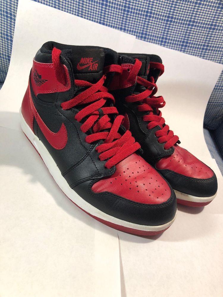Nike Air Jordan Retro 1 2016 Men's Shoes Size 7 Bred