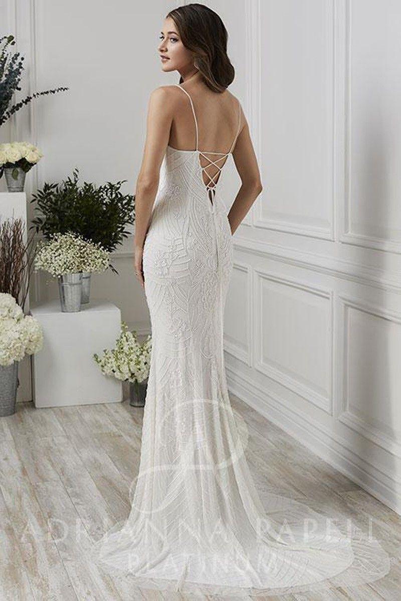 adrianna papell wedding dress online