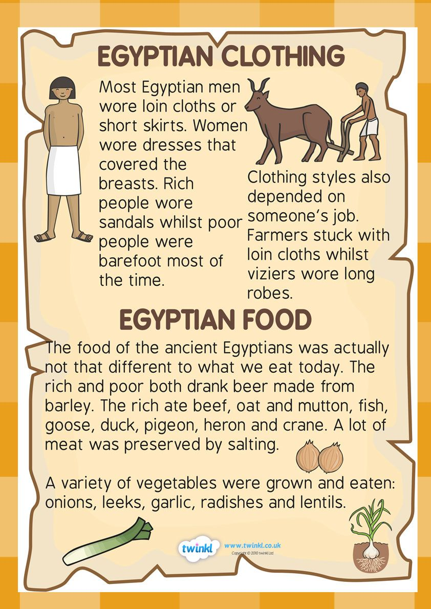 Ks2 ancient egypt food and clothing factfile history ks2 ancient egypt food and clothing factfile robcynllc Images