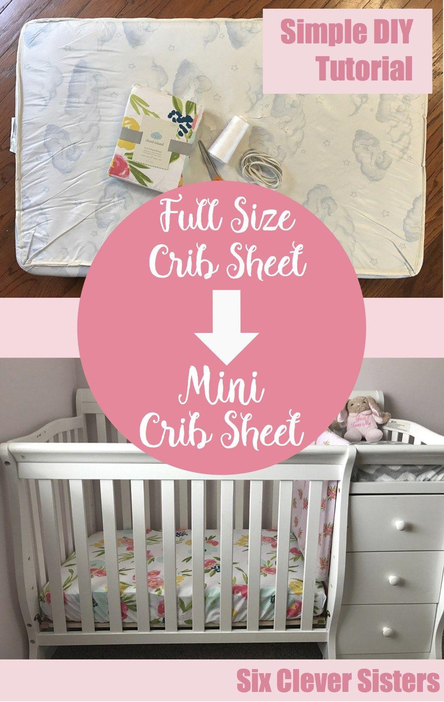 Mini Crib Sheet Tutorial Diy Crib Crib Sheet Tutorial Mini Crib
