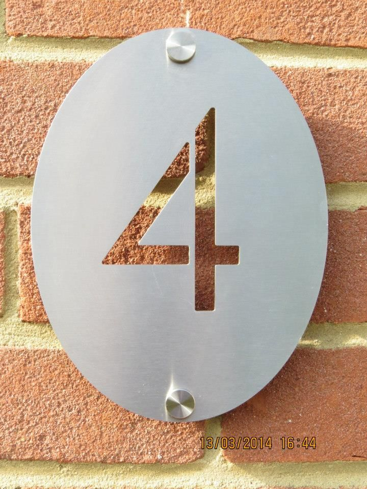 Stainless Steel House Number Home signs