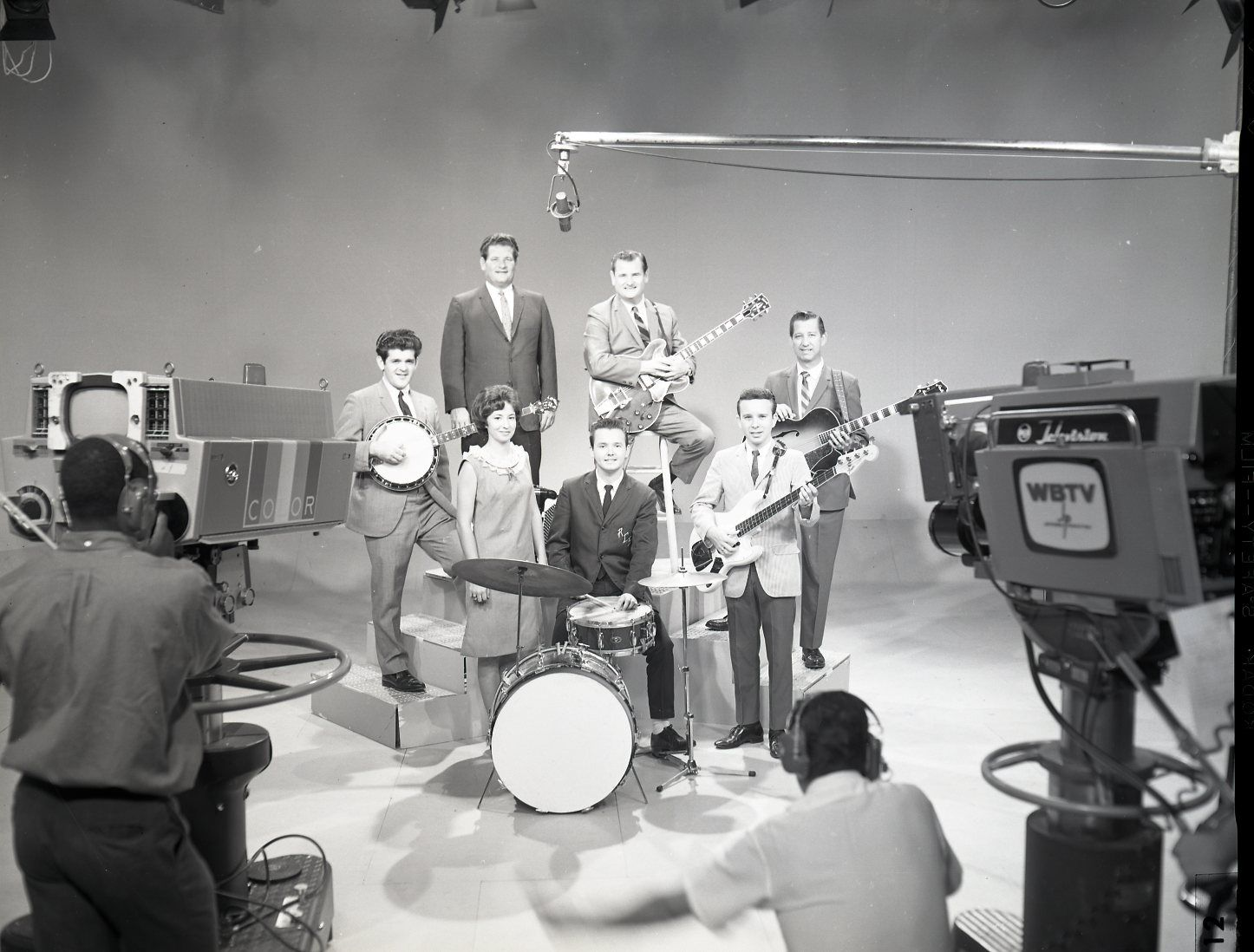 Cast of The Arthur Smith Show, circa 1960s, filmed at WBTV in