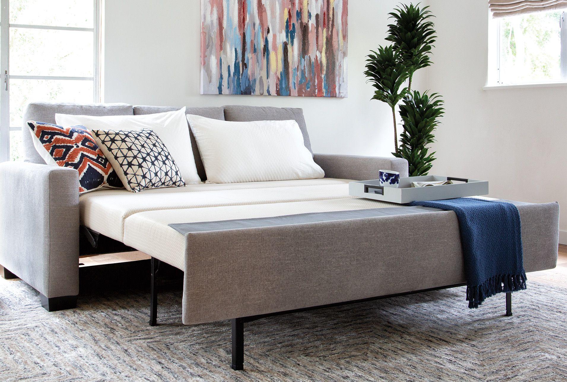 Surprising Queen Plus Sofa Sleeper With Storage Chaise Mackenzie Dailytribune Chair Design For Home Dailytribuneorg