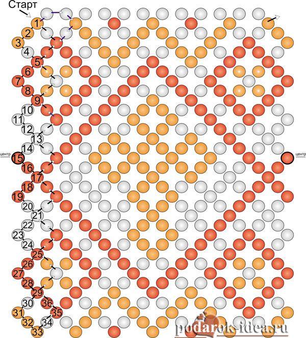 бисерная сетка схемы - Поиск в