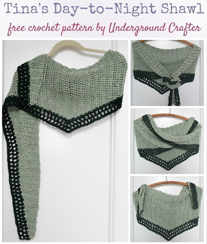 Tina\'s Day-to-Night Shawl | Make & Do | Ganchillo, Chal, Tejidos de ...