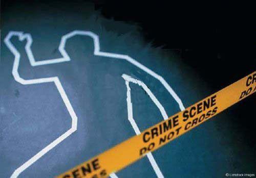 Imagen Del Dibujo Del Contorno De Un Hombre Que Senala Un Crimen Escenas Del Crimen Crimen Policia