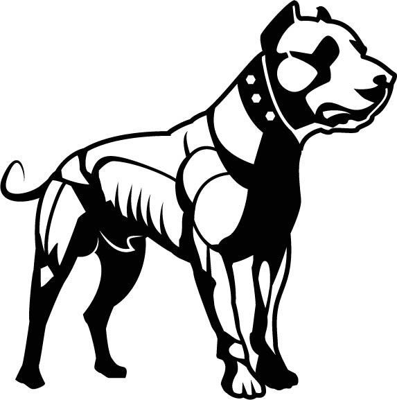 Muscular Pitbull Dog Vinyl Decal Car Sticker