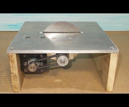 Homemade Mini Circular Table Home Built Jig Saw DIY Wood Cutting PCB  Machine Spindle Drill Motor