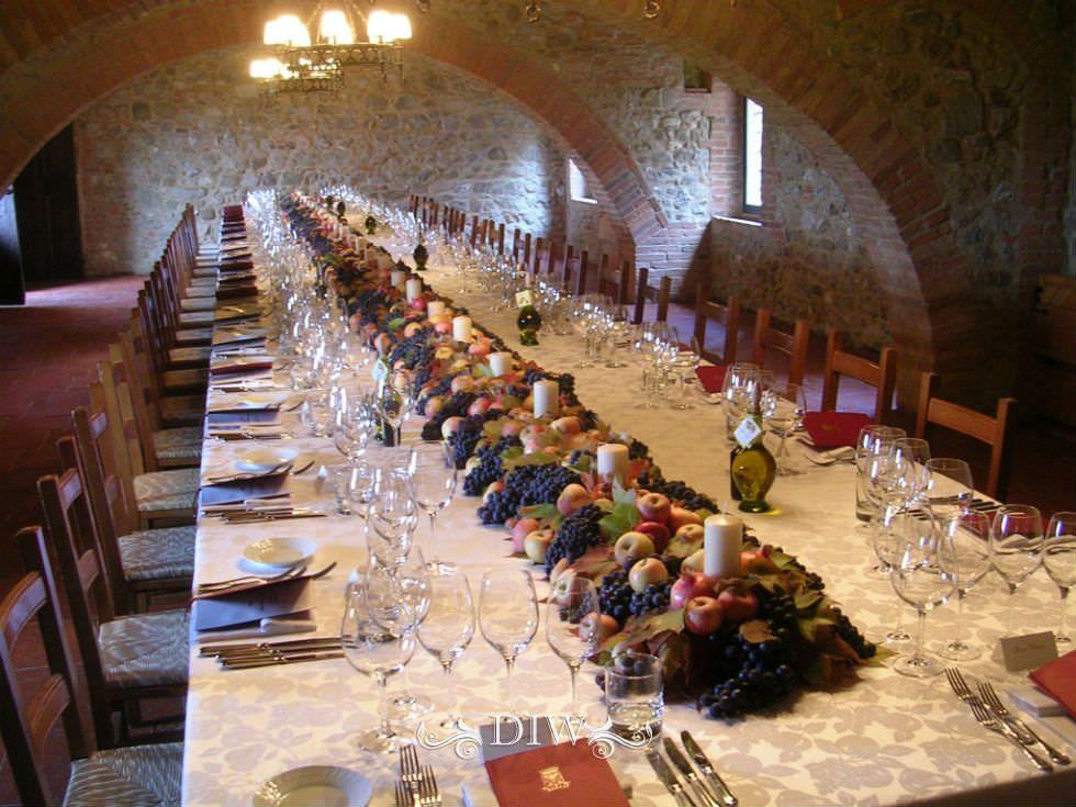 Tuscany wedding centerpieces - autumn grape harvest theme ...