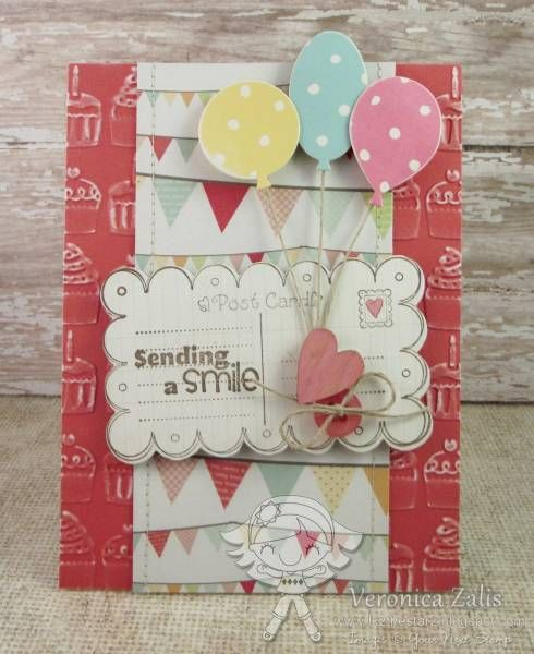 Small Post Card Stamp and Die, Balloon Dies - Your Next Stamp