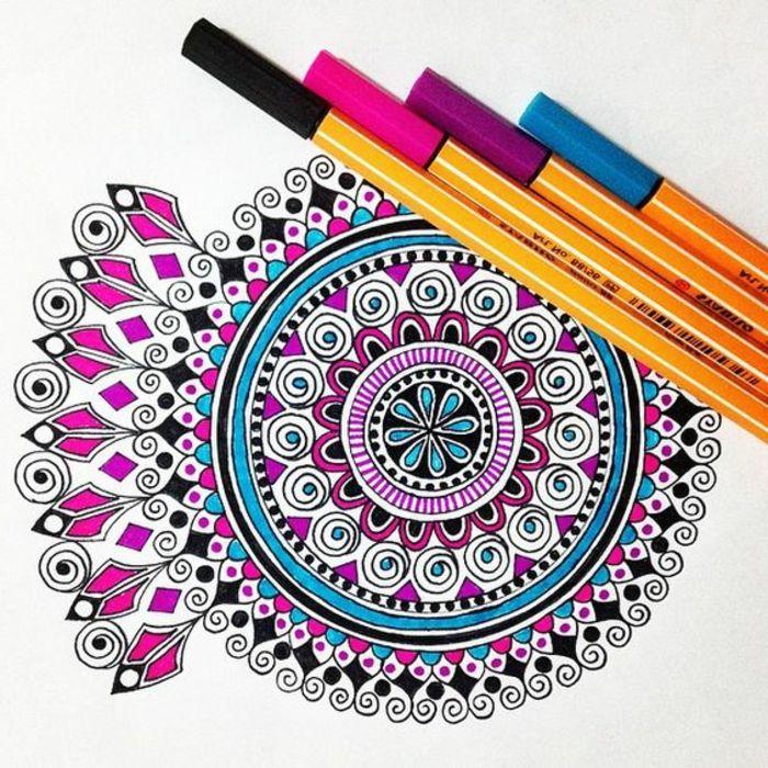 1001 Ideas De Dibujar Mandalas Faciles E Interesantes Un - Mandalas-en-color