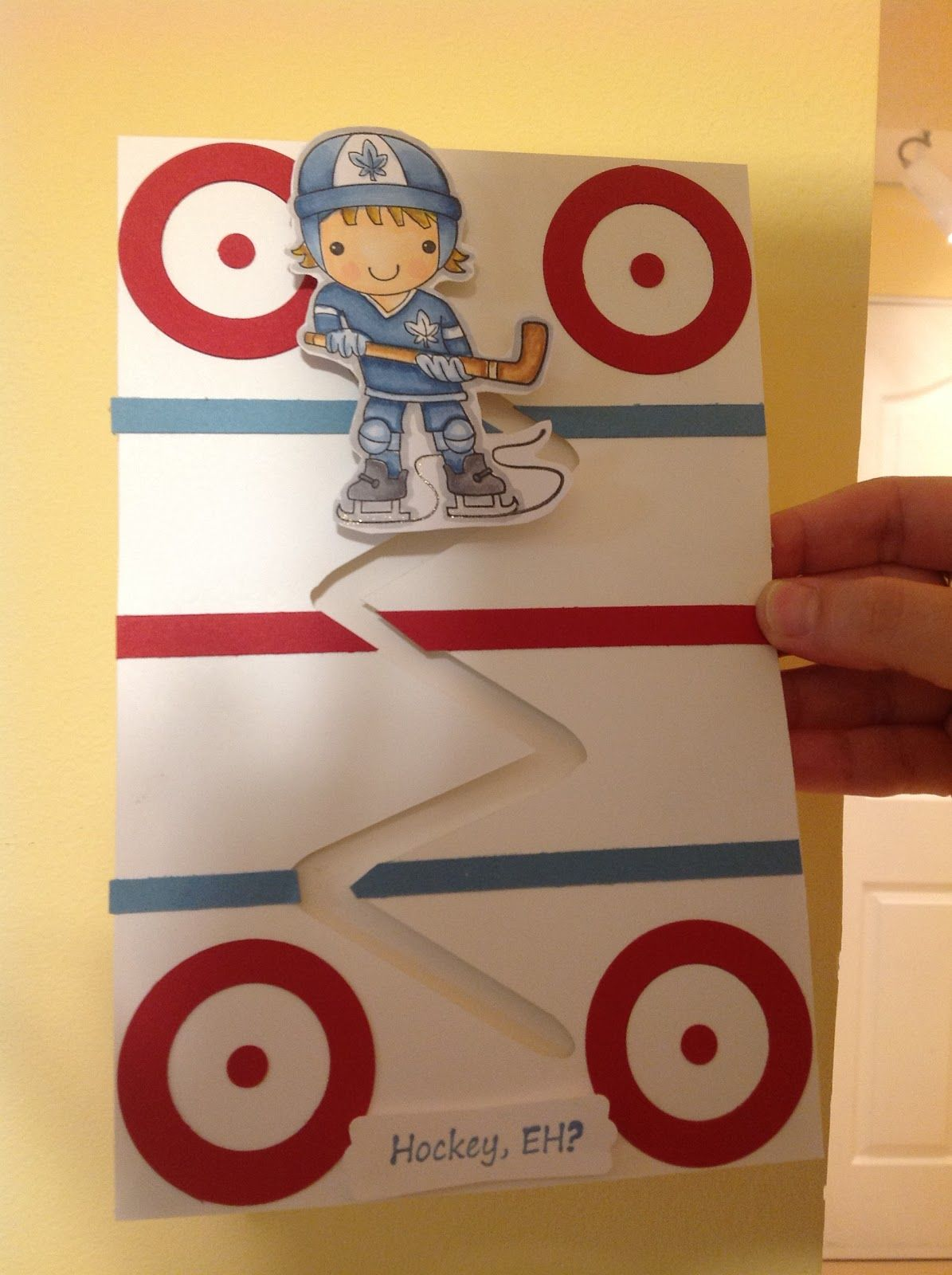 Hockey player spinning card crafts pinterest cards card ideas