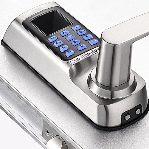 Harfo Keyless Electronic Fingerprint Door Lock Fm 02 Backlit Password Keypad Fingerprint Password Home Security Tips Fingerprint Door Lock Business Security