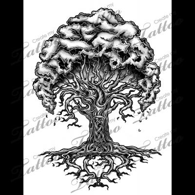 Marketplace Tattoo Yggdrasil Norse Tree Of Life 13947