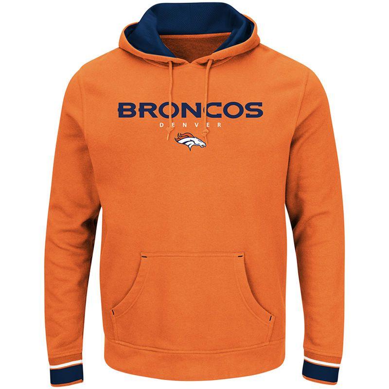 Denver Broncos Majestic Big & Tall Championship Pullover Hoodie - Orange