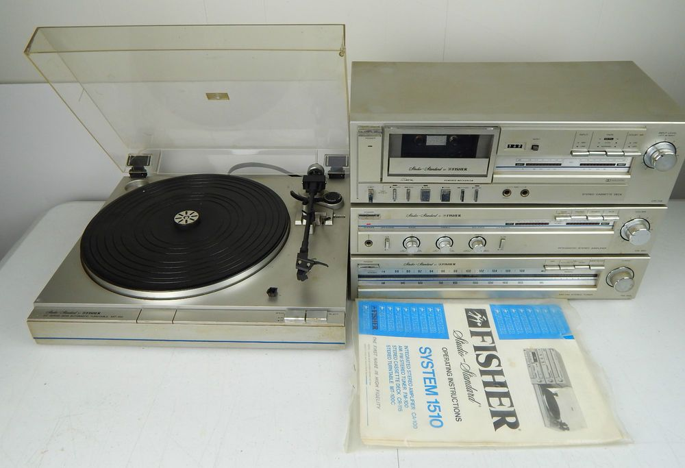 Vintage Fisher Component Stereo System 1510 Record Player Cassette Tuner in Consumer Electronics | eBay
