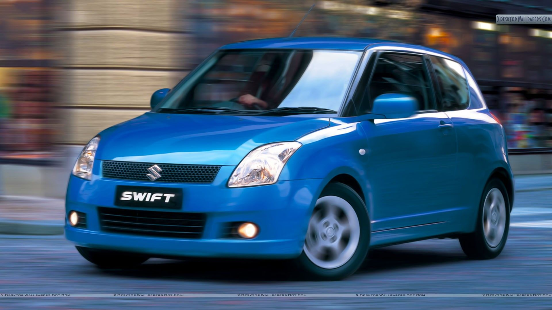 Suzuki swift sport 2013 pictures to pin on pinterest - Suzuki Swift Sport Blue Car Outside Street Wallpaper