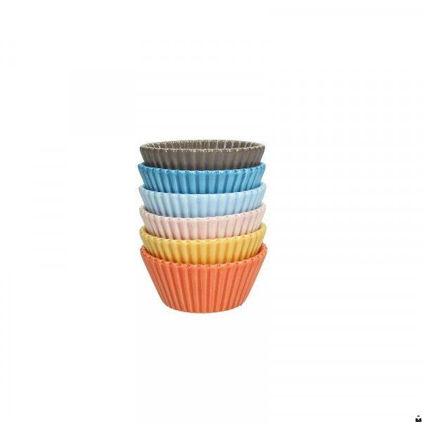 Set Da 6 Cupcakes Di Dimensioni 6,7 Cm Alti 3 Cm Marca TOGNANA. Cupcakes  Dallo Stile Moderno In Porcellana Dura, Lavabile In Lavastoviglie, Adatto U2026