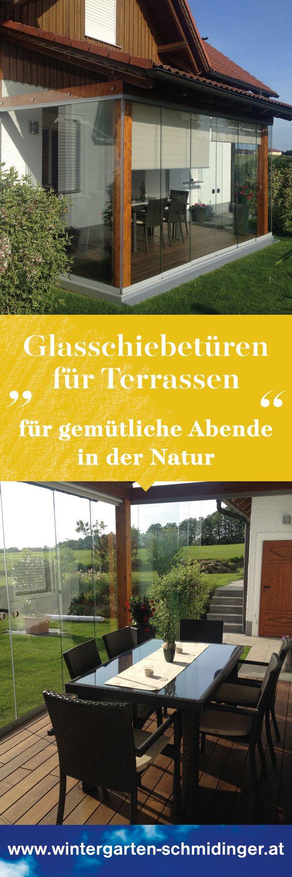 Glasschiebeelemente Terrasse Aussen Terrasse Wintergarten Einrichtung Sommergarten