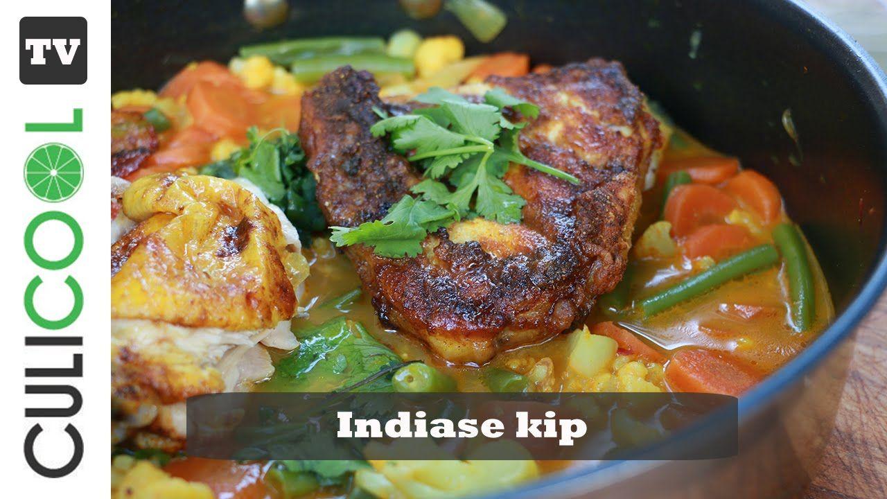Heerlijke paleo avondmaaltijd: Indiase Kip