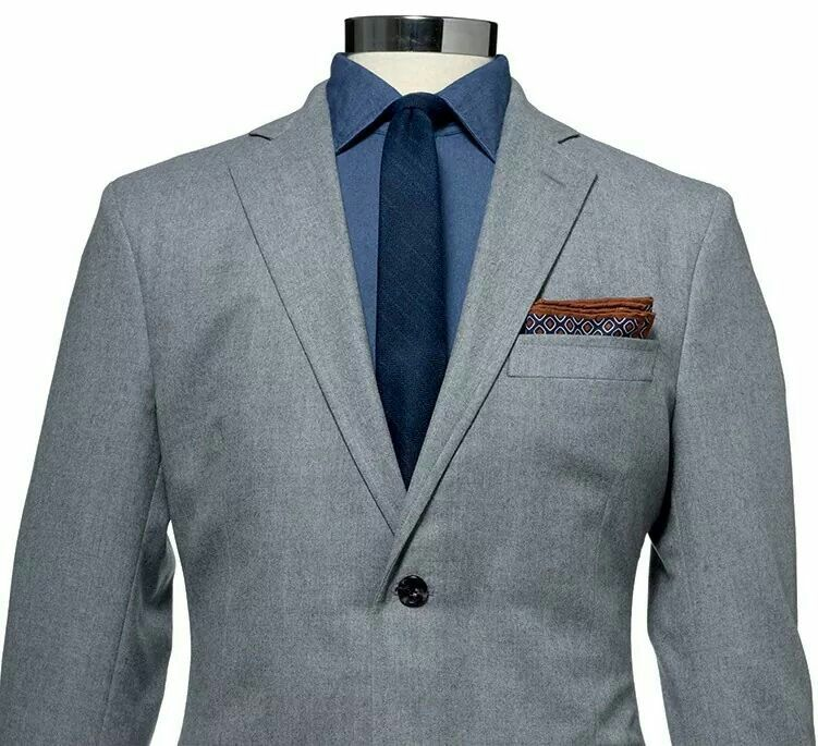 Grey Suit / Dark Blue shirt / blue tie | wear | Pinterest | Dark ...