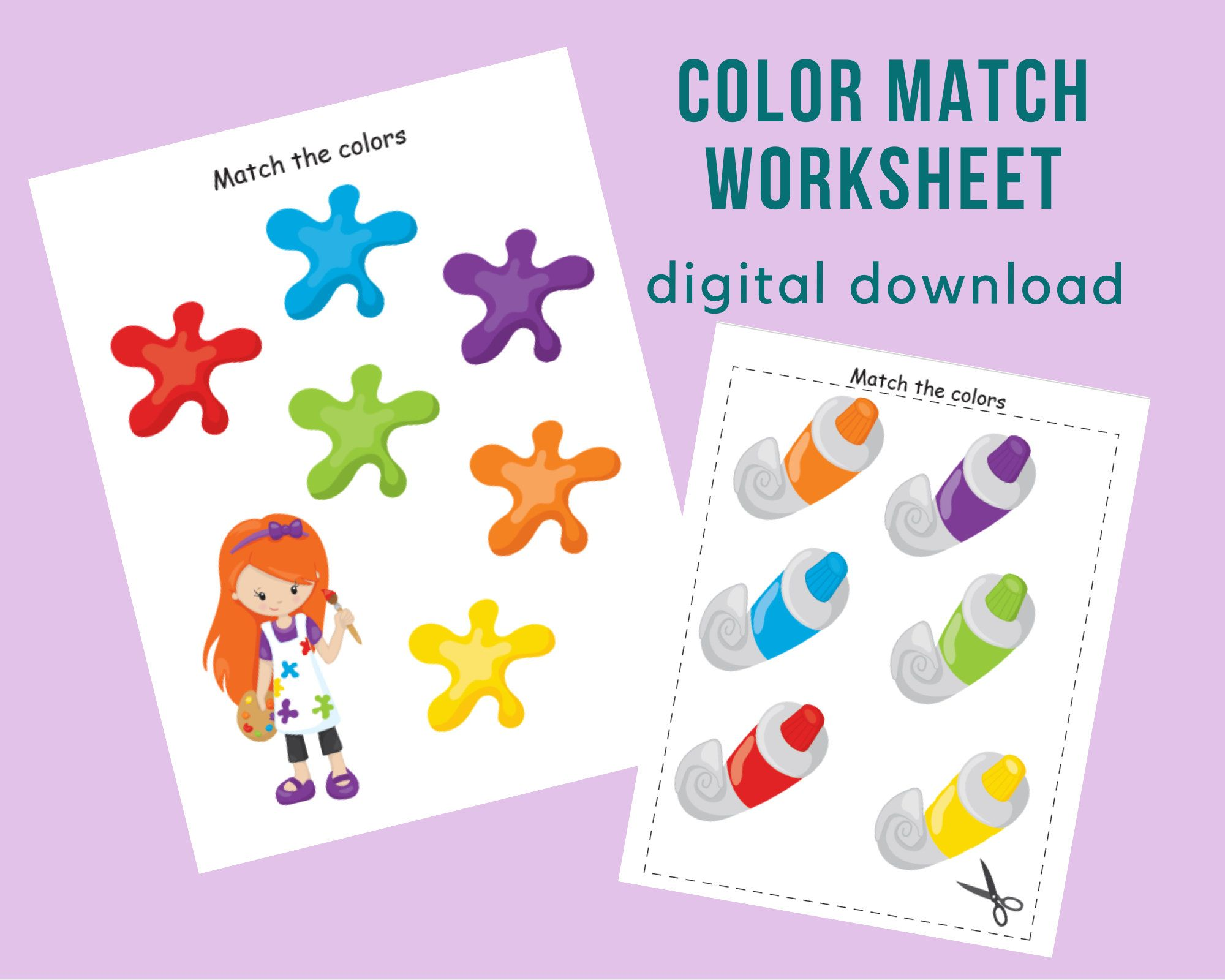 Color Matching Worksheetcolour Sorting Printable Busy Book