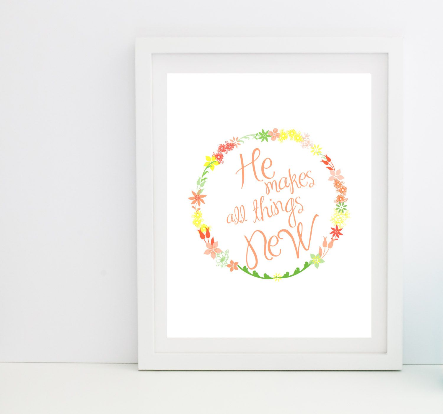 He Makes All Things New // Christian Digital Print by mercyink