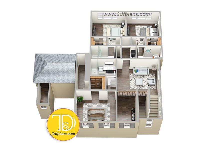 2nd Floor 3d Floor Plan Sims House Design Floor Plans Sims House