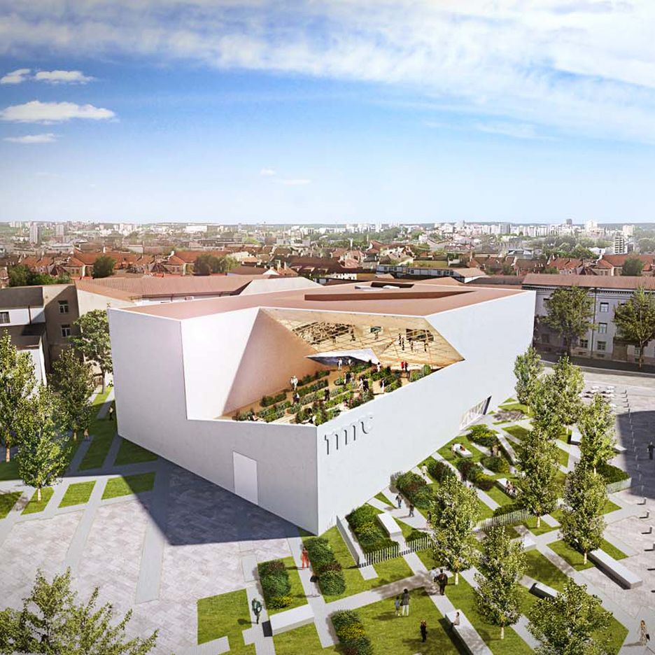 Durham Greens Apartments: Daniel Libeskind Designs Angular White Concrete And Glass