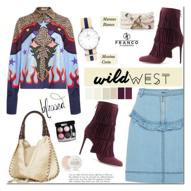 """Wild West Style"" by mada-malureanu ❤ liked on Polyvore featuring Mary Katrantzou, Manoush, Paul Andrew, Ghibli, Chanel, Fresh, watch, bracelet, wildwest and francoflorenzi"