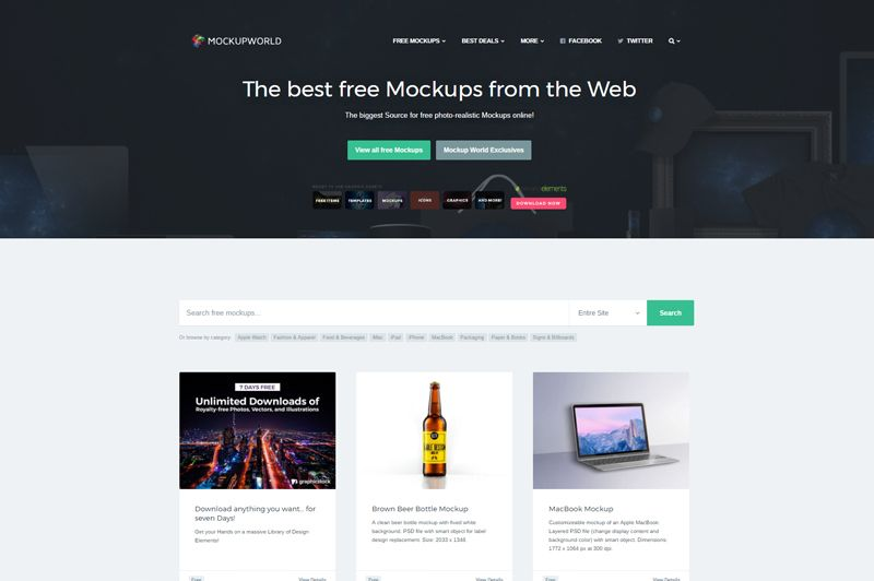 20 Best Websites To Get Free Mockups For Your Graphic Web Design Projects Web Design Projects Web Design Cool Websites