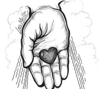 Resultado de imagen para caricatura manos de dios  Frases Biblia