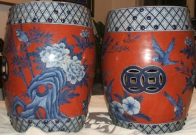 chinese porcelain garden stool sale Pair of Chinese Garden