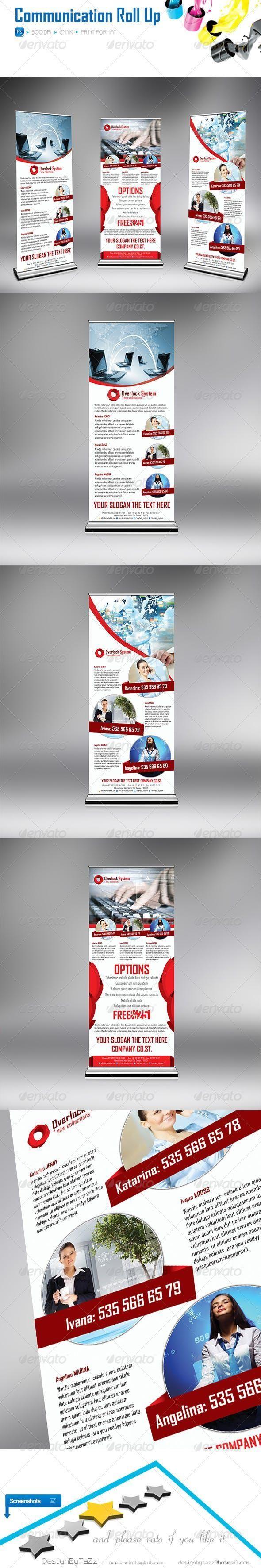Overlock System Roll-Up #SignageTemplates #SignageDesign #marketing #signage #co...