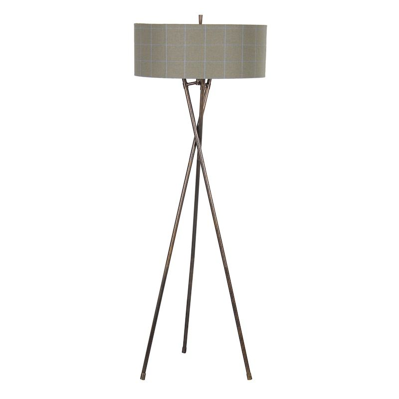 Arran tomintoul check floor lamp floor lamp tripod and industrial a modern check upholstered floor lamp with metal base the arran collection is upholstered in luxury aloadofball Gallery